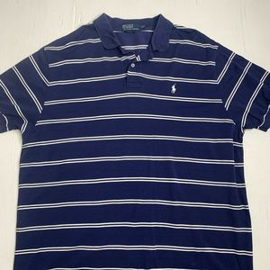 Polo Ralph Lauren Striped Polo Pony Rugby Shirt